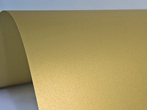 10 x Blatt Perlmutt-Gold 300g Papier DIN A4 210x297mm, Sirio Pearl Aurum, ideal für Hochzeit, Geburtstag, Weihnachten, Einladungen, Diplome, Grußkarten, Scrapbooking, Kunst und Handwerk