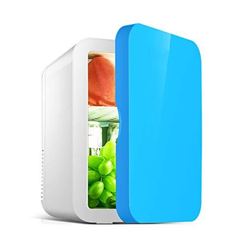GSYNXYYA Mini refrigerador, refrigerador de Cuidado de la Piel de Maquillaje Profesional de 8L, refrigerador de bajo Ruido de enfriamiento, refrigerador de Coches con semiconductor de 12V,Azul,8L