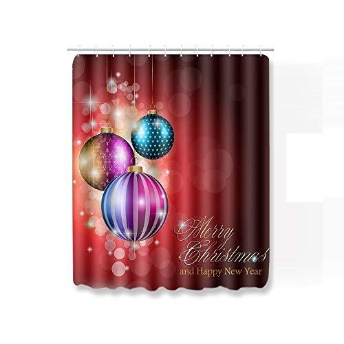 Alfombra Baño Baratas Imprimir Calcetines De Navidad Juego Cortina Ducha Accesorios para Alfombras Alfombrilla 3D Toillete Funda Asiento Alfombrillas Antideslizantes-Cortina