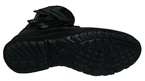 Protectwear TB-ALH-44 Motorradstiefel, Tourenstiefel, Allroundstiefel aus schwarzem Leder mit Klettverschluss, Größe 44, Schwarz - 6
