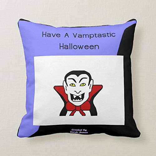 Uptwer2ahum Halloween Pillow Covers 40x40 cm Vamptastic Halloween Square Lumbar Pillow Covers Autumn Cushion Cover Thanksgiving Day Pillow Case for Sofa Couch Decoration