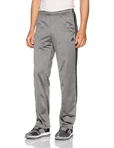 adidas Men's Athletics Essential Tricot 3-Stripe Pants, Dark Grey/Black, Small