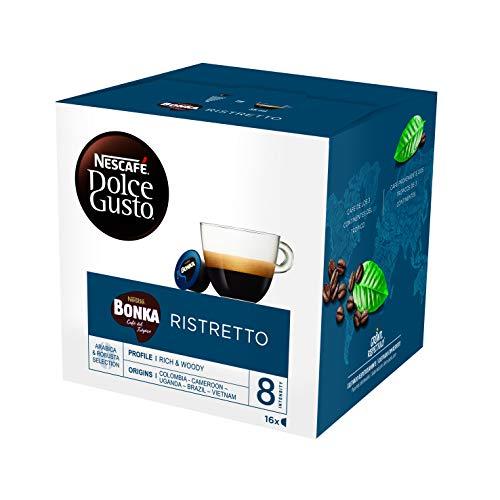 Nescafé Dolce Gusto Bonka Espresso, Kräftig, Kaffee, Kaffeekapsel, 16 Kapseln