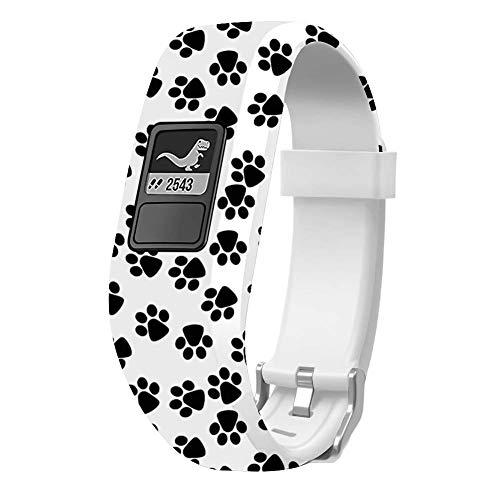 Sibode Watch Band Compatible with Garmin Vivofit 3/ Vivofit JR/JR. 2?Accessories Replacement Bands with Secure Watch Strap for Vivofit JR, Paw
