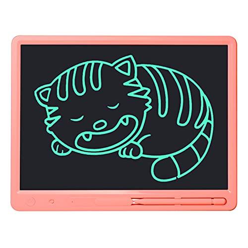 Tablero de Dibujo 10 y 15 Pulgadas de Gran tamaño LCD Escritura Tableta electrónica gráfico Pad Memo tableros de Notas Adultos Negocio Cuaderno niños Dibujo Juguetes (Color : Pink 15 Inch)