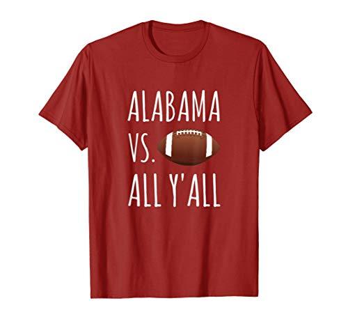 Alabama VS. All Y'all Football Shirt T-Shirt