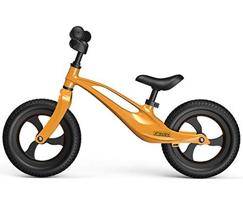 OUYA Bicicleta de Equilibrio, Ligera, sin Pedales, para niños, para niños de 2 a 6 años, Scooter de Aprendizaje, Bicicleta para niños, para niñas y niños,Amarillo