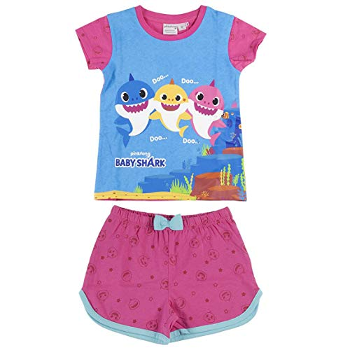 Characters Cartoons Pinkfong Baby Shark – Pijama completo para niña – Conjunto de camiseta y...
