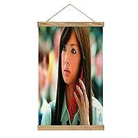 北川景子 現代絵画キャンバス絵画 ポスター壁アート画像リビングルームベッドルーム現代家の装飾木製フレーム34 * 52cm