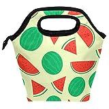 Bolsa de almuerzo con diseño de sandía, reutilizable, aislante, para mujeres, niños, parrillas, almuerzos, preparación de comidas, bolso de mano para la escuela, picnic, oficina