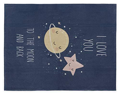 Naf Naf 36733 Carpet Love to the Moon 100% Algodon Azul TK, Multicolor