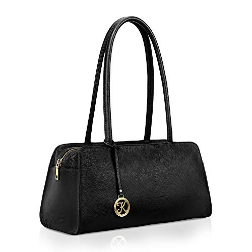 Stylish Design: A unique shape brings extraordinary appeal of vintage and stereoscopic sense. Specially-designed long and round-shape handles allow you carry it as tote or shoulder bag. The logo charm express the elegant style Quality Craftsmanship: ...