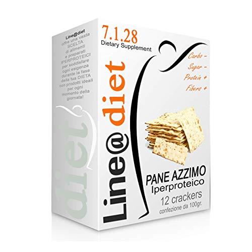 CRACKERS di PANE AZZIMO IPERPROTEICO, 1, 2 o 3 confezioni, crackers proteici, fase 1 e fase 2, basso contenuto di glucidi e lipidi (12)