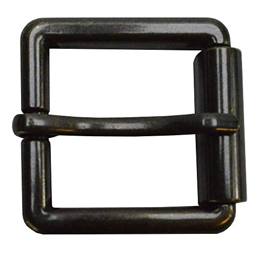 flevado Gürtelschnalle extrem dicke stabile Rollschnalle aus Rundstahl Buckle 4 cm Metall Dornschließe für Gürtel mit 4 cm Breite M 1