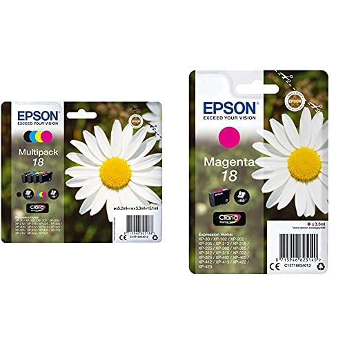 EPSON Encre N.C.M.J Multipack Alarme & Daisy Cartouche Pâquerette 18 - Encre Claria Home M