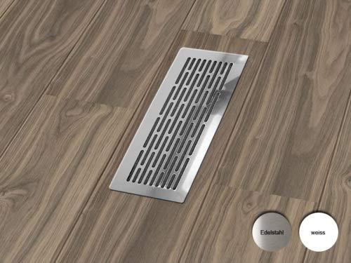 Rejilla de ventilación para la salida de aire de salida, instalación en el suelo