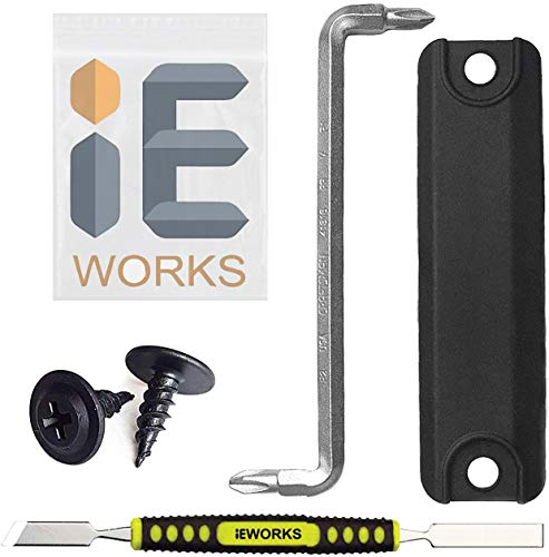 IE Works Rear Hatch Button w/Screwdriver & Screws Liftgate Switch Cover Compatible with Toyota Prius Lexus 4runner Scion Camry Trunk Door Release w/Screws Repair Fix Kit Replacement