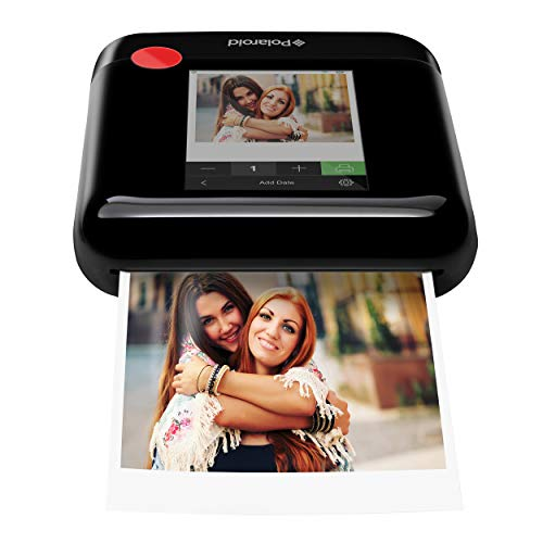 Zink Polaroid WiFi Wireless 3x4 Portable Mobile Photo Printer (Black) with LCD Touch Screen,...