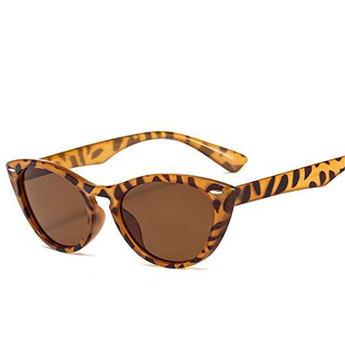 DLSM Vintage Gato Ojo Gafas de Sol Moda Mujeres Gafas de Sol UV400 usadas para Conducir, Ciclismo, Golf, Esquiar, Pescar y Correr-Multi