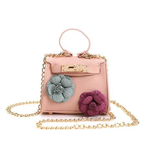 Yankuoo Fashion Lock Kinderen Schoudertas Trend Bloem Decoratie Meisje Messenger Tas Prinses Handtas