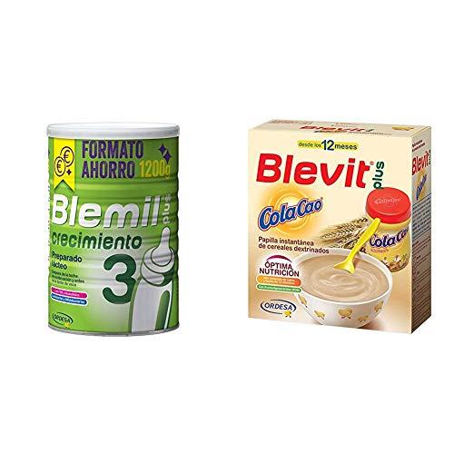 Blemil Plus 3 Crecimiento - 1200 g + Blevit Plus ColaCao 600 g