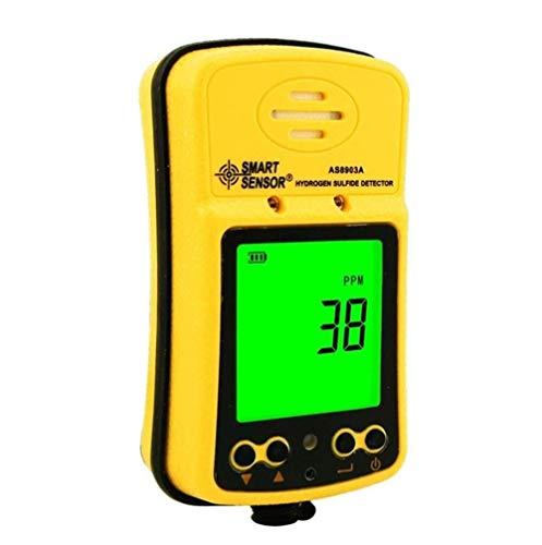 H2S-Gasdetektor Tragbarer Wasserstoff-Schwefel-Gasmonitor-Tester Hochempfindliches 0~500PPM H2S-Sensormessgerät mit großer LCD-Anzeige Hintergrundbeleuchtung Wiederaufladbare Li-Batterie
