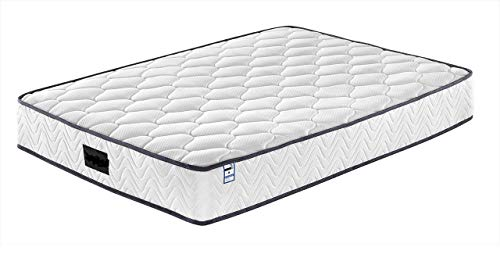 Buyer Empire Sprung Memory Foam Mattress High Innovative Wave Breathable Pressure Relief with Zoned Support Luxurious Soft Fabric Less Friction Spring, Premium Flexible (King)