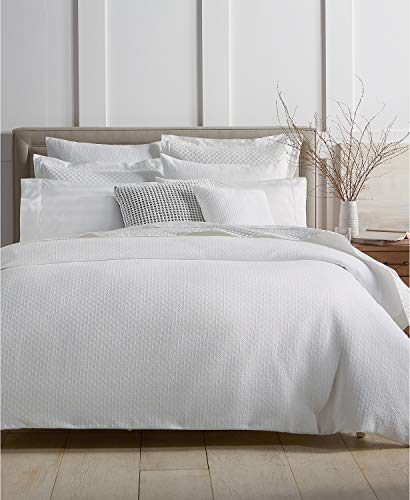 Charter Club Damask Designs Diamond Dot 300 Thread Count 3 Piece Full/Queen Comforter Set White