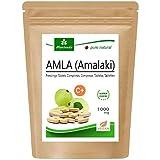 MoriVeda - Amla 1000mg (60 o 180 compresse) - Prodotto naturale al 100% con vitamina C, cromo, minerali, proteine e vitamine del gruppo B. Sistema immunitario, antiossidante (1x60 Compresse)