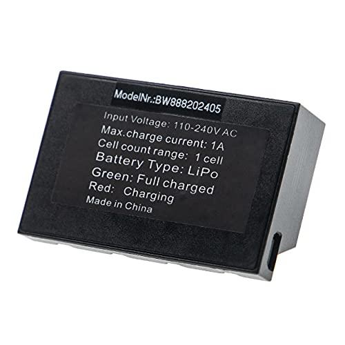 vhbw Caricabatterie da 4 Compatibile con Parrot Mini Drone, MiniDrone Jumping Sumo Drone (Caricatore Multiplo), con Attacco Micro USB