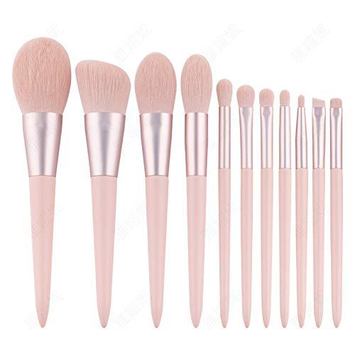 ABUKY Professionelles Make-up-Pinsel-Set für Grundierung, Puder, Concealer, Blending Lidschatten, Gesichtsmake-up-Pinsel (Caron Pink, 11 Stück)