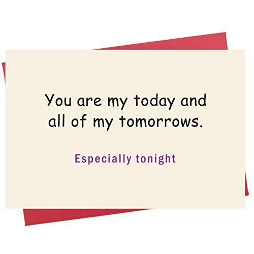 Romantische Valentinstagskarte, freche Geburtstagskarte, Wortspielerin zum Jahrestag, Liebeskarte für Sie und Ihn.