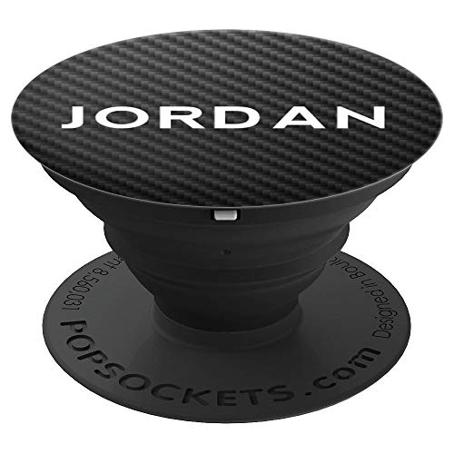 Jordan Name Personalized Birthday Men Boys Car Carbon Gift PopSockets Grip and Stand for Phones and Tablets