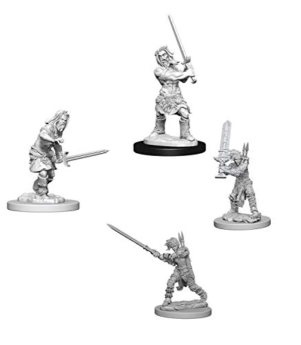 Pathfinder Battles Deep Cuts Miniatures Bundle: Human Male Barbarian & Human Female Barbarian