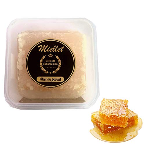 Miellet - Panal de Miel de Romero (250 gr aprox.) cosechado en España. Producto gourmet artesano. Suaviza la garganta y contiene propiedades antisépticas.