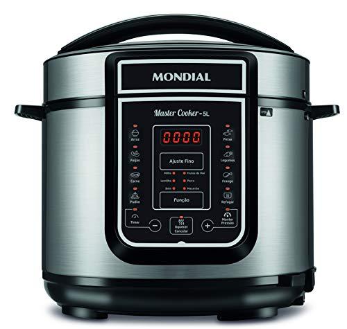 Panela de Pressão Digital Mondial, Master Cooker - 5L, 127V, Preto, 900W - PE-38
