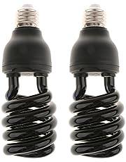 Sharplace E27 UV blacklight gloeilamp ultraviolette lamp 220V, 2-delige set