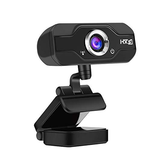 AOGUERBE Webcam HD, PC Telecamera 1080P Full HD Camera USB Web Camera Microfono Integrato Web Cam per Google Hangouts, Registrazione Video, Facetime, Youtube Compatibile con PC Laptop Computer Mac