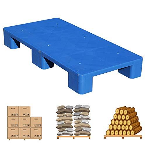 LIANGJUN-Pallet In Plastica Magazzino Tampone Antiumidità Robusto Supermercato Mensola All'aperto Conservazione, Portatile, Cuscinetto Forte,5 Dimensioni (Color : Blue, Size : 100x50x13cm)