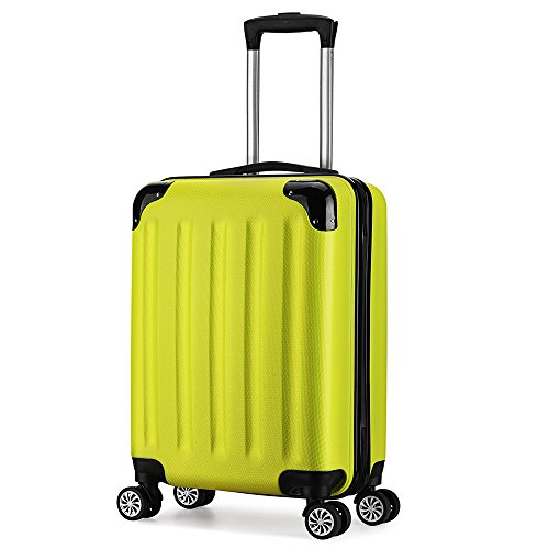 Valise trolley cabine 55cm ABS 4 roues rigide ultra...