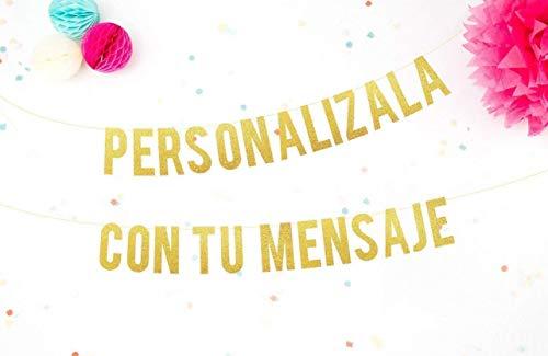 Guirnalda Personalizada con nombre o tu Mensaje para Bodas, Fiestas, Bebé y Despedidas de Soltera Cartel letras doradas con tu mensaje perfecto para cualquier celebración