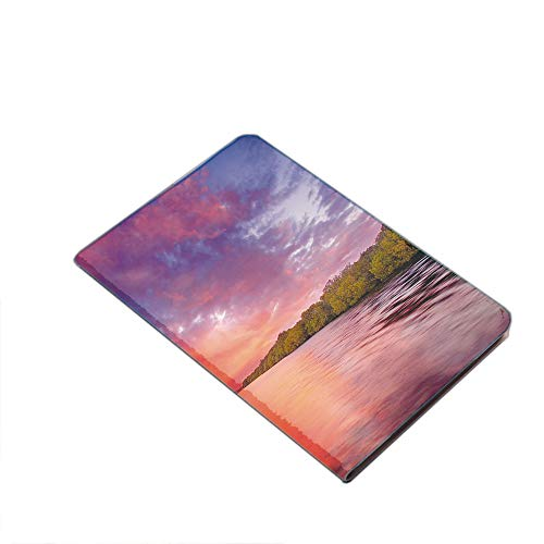 Case for iPad Air 10.5' 2019 (3rd Generation) & iPad Pro 10.5 2017,Enchanted Coast with a Rowboat under Magical Hazy Sky Peaceful Nature Image PU Leather Business Folio Cover,with Stand,Pocket and Aut