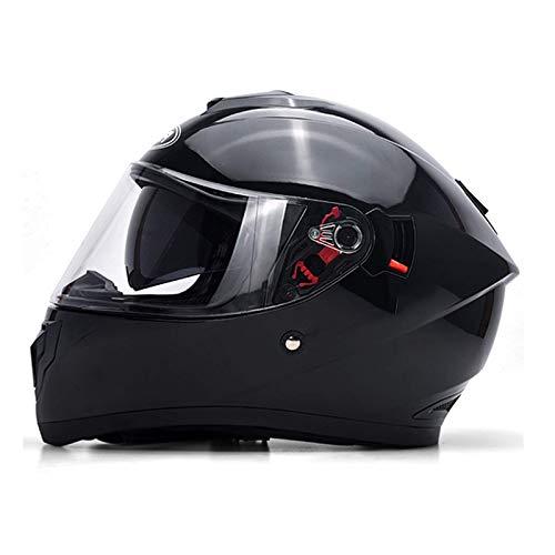 BGMKE Motorrad Modularer Integralhelm DOT Approved Bike Moped Cruiser Motorradhelm Klappbare HD Dual Sonnenblende mit Erwachsenen Männern/Frauen (55-62CM)