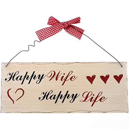 Magical Gift Store Happy Wife Happy Life Plaque