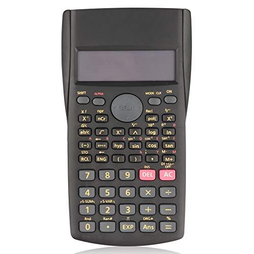 HIHUHEN Calculadora científica multifunción, ideal para ingeniería, contabilidad, calculadora, trigonometría (KK-82MS)
