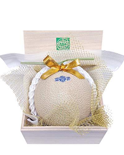 メロンショップマエシマ 静岡クラウンメロン 並(白) Sサイズ 1玉桐箱入り メッセージカード(無料)