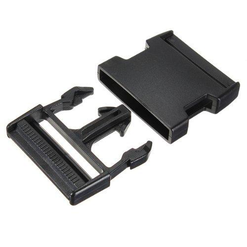 fibbia - TOOGOO(R) 50 mm chiudiporta a spina clip di fibbia cinturino nero