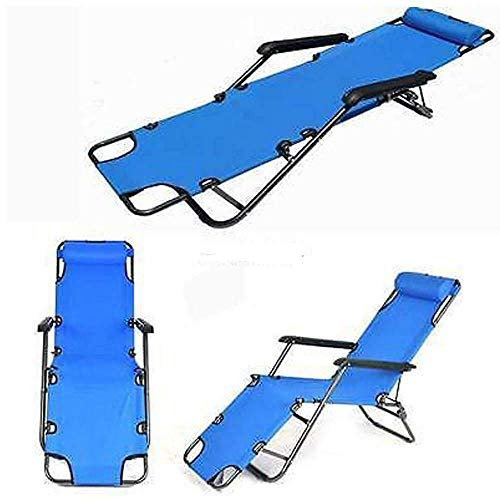 Indoor Living Bed ChairMetal Folding Chaise Lounge Chair Patio Garden Pool Beach Lawn Recliner Yard Outdoor Reclining Chaise Lounge Bed Chair Pool Patio Camping Cot Portable Relax
