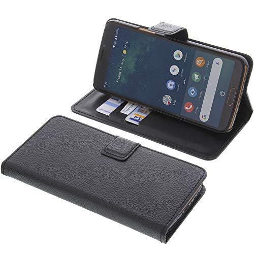foto-kontor Tasche für Doro 8080 Book Style schwarz Kreditkarte Schutz Hülle Buch