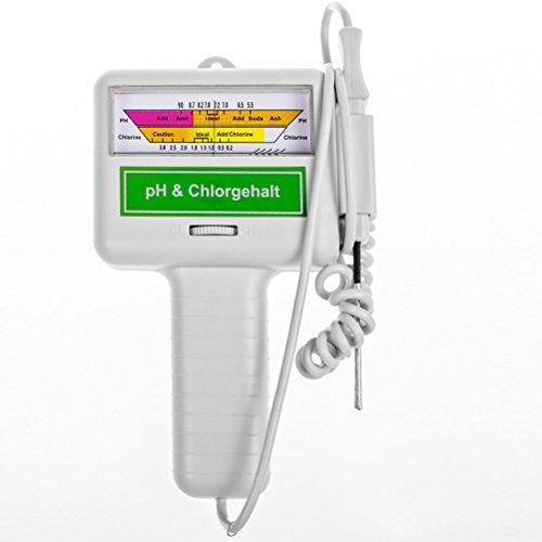 Leorx PH- und Chlor-Tester für Schwimmbecken und Spas (grau)
